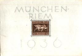 GERMANY 1936 B90 HORSES SHEET NH 4531kk - $19.80