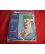 "PARAGON FELT CHRISTMAS STOCKING KIT. FACTORY SEALED.  "" FROLIC IN THE SN... - $10.99"