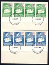 UK GB 1971 STRIKE STAMP ON STAMP 2 COVERS  5627RD - $34.65