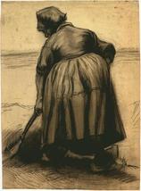 """VAN GOGH """"DIGGING PEASANT WOMAN"""" STEDELIJK MUSEUM PRINT - $289.49"""