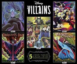 Ceaco - Disney/Pixar 5 in 1 Multipack Jigsaw Puzzle Sets, Disney Villain... - $27.08