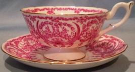 Coalport Cup & Saucer Pink on White Motif - $25.00