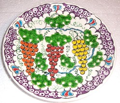VINTAGE ALTIN GINI HANDMADE POTTERY PLATE SIGNED TURKEY - $284.63