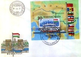 HUNGARY # 2712 IMPERF EUROPA FDC STAMP ON STAMP 2787mk - $27.72