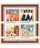GUINE BISSAU 2001 CHIENS DOGS CATS CHAT SHEET OF 4  MNH 15973-5 - €8,74 EUR
