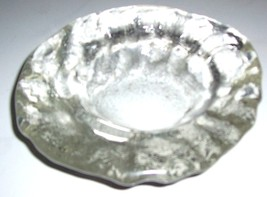 VINTAGE CLEAR GLASS HAND CRAFTED ASHTRAY - $55.14