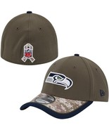 SEATTLE SEAHAWKS SALUTE TO SERVICE SIDELINE HAT NEW ERA SMALL / MEDIUM NEW - $39.99