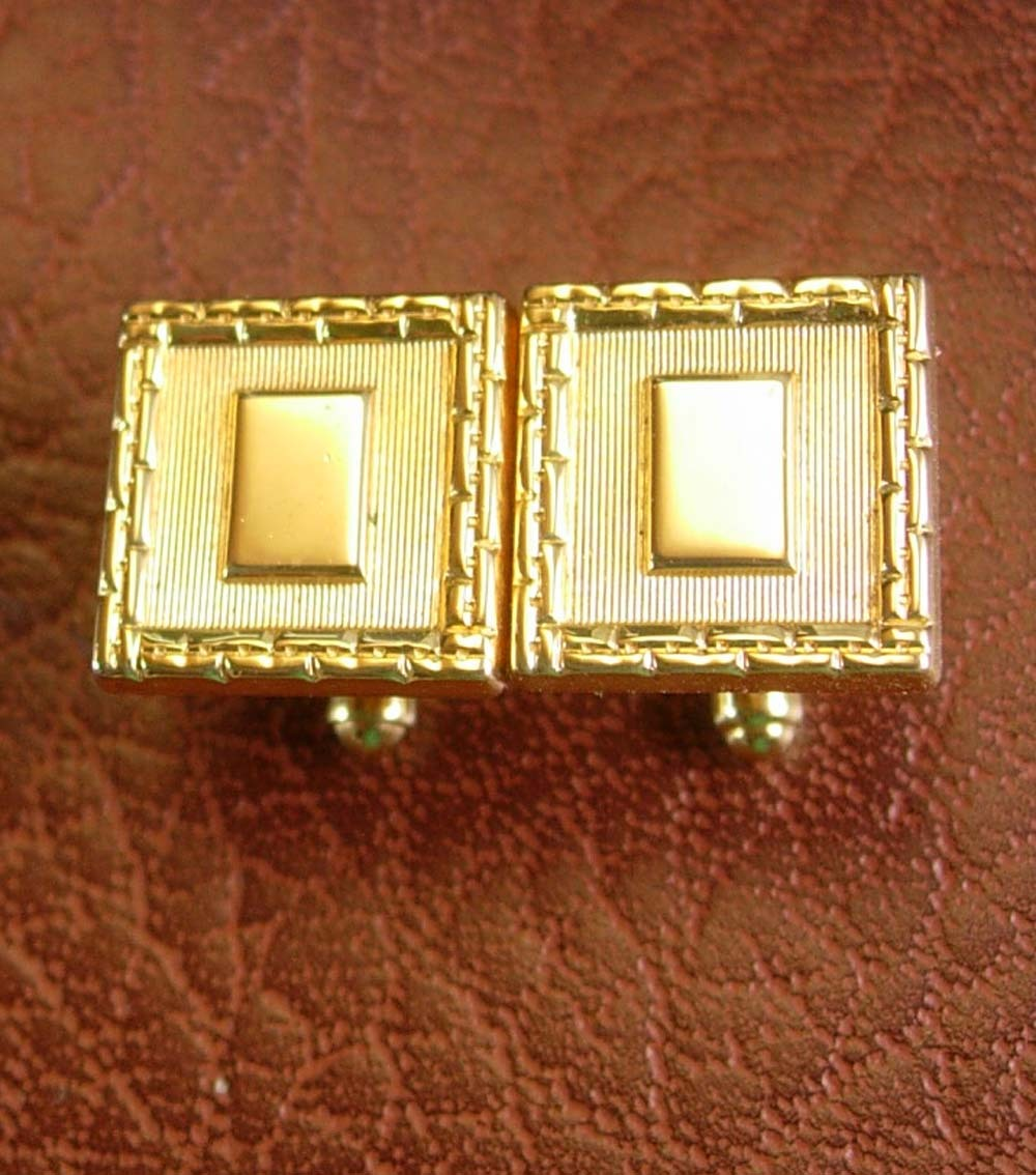 Primary image for Monogrammable Cufflinks Vintage Picture Frame Blank Designer Speidel Men's Cuff