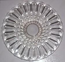 VINTAGE DEPRESSION GLASS CRYSTAL PLATE SERVER & HANDLE - $74.16