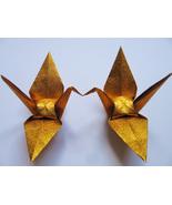 "1000 large glittering / shiny gold origami cranes 6"" x 6"" - $300.00"
