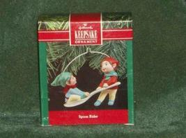 Hallmark Spoon Rider 1990 Elves on Spoon - $5.94
