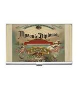 Freemason Masonic Diploma Business Card Holder - $6.59