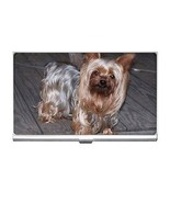 Yorkshire Terrier Puppy Dog Photo Business Card Holder - $6.59