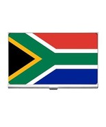 South Africa Flag Business Card Holder South African - $6.59