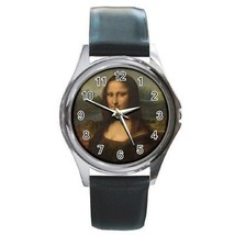 Mona Lisa Round Leather Band Watch - $9.39