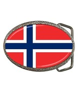 Norway Flag Belt Buckle Norwegian - $7.52