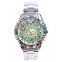 Antarctica Map Stainless Steel Analogue Watch South Pole - $9.39