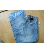 Ladies NY JEANS Cropped Light Blue Pants 5 Pocket Size 12 NEW York Cotto... - $25.64