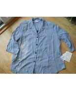 Woman Gloria Lance 2-fer Blouse Tank Top Size 3X Lilac Silver Black Shir... - $29.35