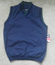 Men vest light jacket by Holloway Lifestyle Collection XS Navy Blue Green Trim - $18.99