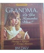 Grandma Do you Remember When? Memory Keepsake R... - $16.60