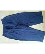 Bobbie Brooks clamdigger Pants Size 12/14  L Dark Navy Pedalpushers Elas... - $16.65