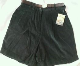 Ladies Marsh Landing Shorts Corduroy Petites Belt Size 14P NEW - $23.74