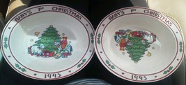 Set of 2 1995 Baby's 1st Christmas Melmac Bowl ... - $23.74