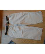 nobo No boundries Ladies Khaki Capri Sz 7 Pants Stone Beige jewel belt C... - $16.65
