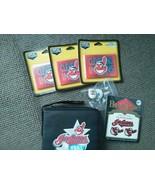 Cleveland Indians LOT 6 CD padded case 3 magnet temp tattoos  tats key c... - $14.69