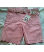 Juniors LEI Stretch Shorts Size 11 Pink Cordory LOWBOY CHelsea Plaid Bel... - $19.54