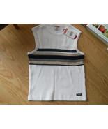 Unionbay Acrylic Soft Sweater Vest Tank Shirt Size Small S White Stripe ... - $18.04