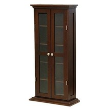 STORAGE CABINET Multimedia CD DVD Walnut Antiqu... - $187.19