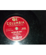 """Dinah Shore 10"""" 78 RPM #38284 Columbia Plays well; Daddy-O; Buttons & Bows - $5.99"""