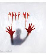 Deluxe Psycho BLOODY HELP ME SHOWER CURTAIN Halloween Bathroom Prop Deco... - $18.78