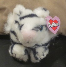 Puffkins Bean Bag Tasha The White Tiger - $7.12
