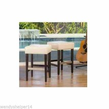 Wood  Counter Stools Home Decor Bar Shop Office Furniture Seat Backless ... - $165.61