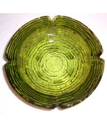 Vintage Anchor Hocking Forest Green Extra Large Heavy Glass Ashtray - $55.14