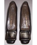 Vintage Andrew Geller Ladies Brown Patent Leather Shoe W/ Design  SIZE 7... - $84.39