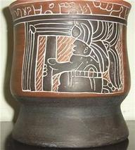 Vintage Armando de Mexico Large Native Aztec Indian Matte Pottery Vase - $347.64