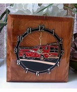 Handmade Fire Truck Clock on Wood - $18.00