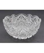 American Brilliant Period Cut Glass  Antique bowl Sharp cutting, quality... - $129.62