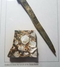 Framed 1854 Shipwreck Artifact Souvenir Delia Marie Hilton Head Brass Spike image 10