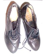 Vintage Dorotea Ladies Snakeskin Leather High Heels Made In Spain SZ 6.5 - $219.93