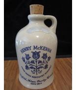 Vintage HENRY McKENNA 4/5 Quart Kentucky Whiskey Jug Straight Bourbon w/... - $19.98