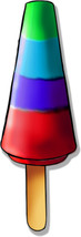 Rainbow Popsicle Treat Clipart Digital Graphic ... - $1.00