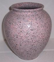 Vintage Global Pink Speckled Ceramic Mosaics Vase made in Portugal - $246.24