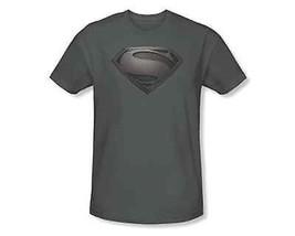 Auténtico Superman Hombre de Acero Mos Escudo Dc Comics Cine Gris Camiseta S-3Xl - $22.73
