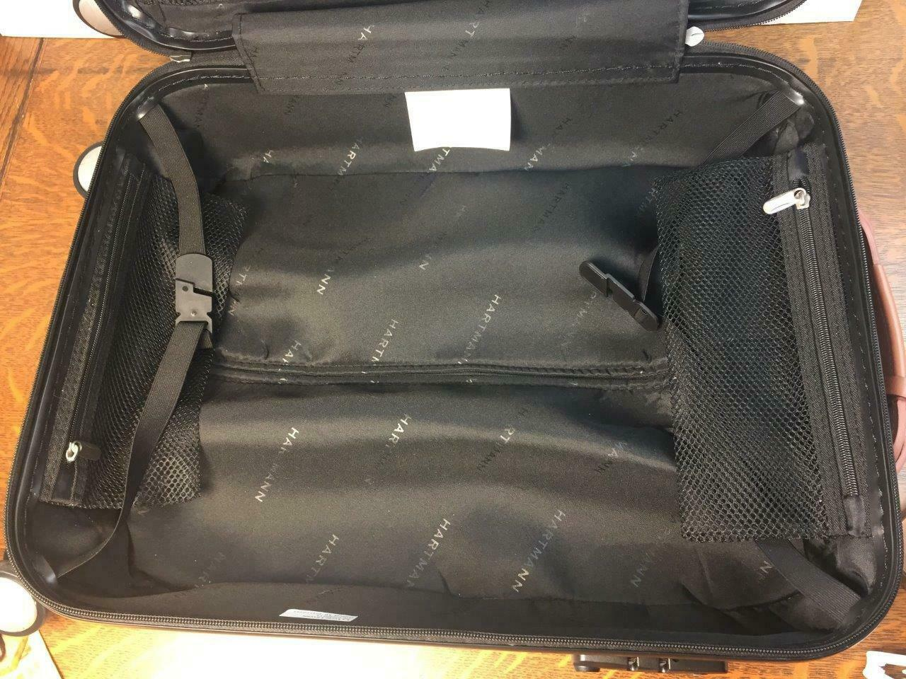 HARTMANN PC4 Carry-on Black Spinner Bag Rolling Suitcase Hardside Luggage Used