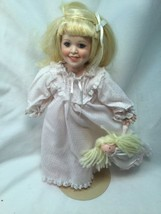 The Danbury Mint 1989 Bedtime Judy Belle Doll Box COA With Baby Doll - $14.84